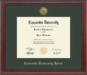 Concordia University - Irvine Diploma Frame - Gold Engraved Medallion Diploma Frame in Signature