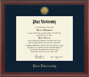 Pace University Diploma Frame - Gold Engraved Medallion Diploma Frame in Signature