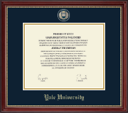 Yale University Diploma Frame - Masterpiece Medallion Diploma Frame in Kensington Gold