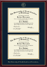 The University of North Carolina Greensboro Diploma Frame - Double Diploma Frame in Galleria