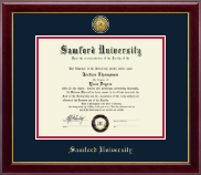 Samford University Diploma Frame - Gold Engraved Medallion Diploma Frame in Gallery
