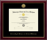 University of Science and Arts of Oklahoma Diploma Frame - Gold Engraved Medallion Diploma Frame in Gallery