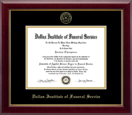Dallas Institute of Funeral Service Diploma Frame - Embossed Diploma Frame in Gallery