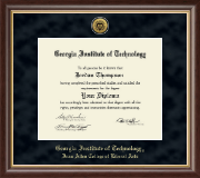 Georgia Institute of Technology Diploma Frame - Gold Engraved Medallion Diploma Frame in Hampshire