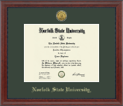 Norfolk State University Diploma Frame - Gold Engraved Medallion Diploma Frame in Signature