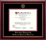 Stanford University Diploma Frame - Gold Embossed Diploma Frame in Gallery