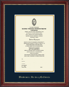 Westminster Seminary California Diploma Frame - Embossed Diploma Frame in Kensington Gold