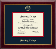 Sterling College Diploma Frame - Gold Embossed Diploma Frame in Gallery