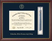 Columbus State Community College Diploma Frame - Tassel Edition Diploma Frame in Newport