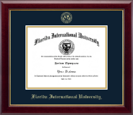 Florida International University Diploma Frame - Gold Embossed Diploma Frame in Gallery