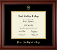 Paul Smith's College Diploma Frame - Gold Embossed Diploma Frame in Cambridge