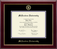 McKendree University Diploma Frame - Gold Embossed Diploma Frame in Gallery