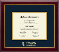 Judson University Diploma Frame - Gold Embossed Diploma Frame in Gallery