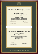 The University of Texas Pan American Diploma Frame - Double Diploma Frame in Galleria
