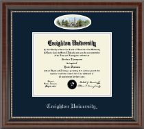 Creighton University Diploma Frame - Campus Cameo Diploma Frame in Chateau