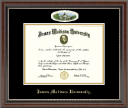 James Madison University Diploma Frame - Campus Cameo Diploma Frame in Chateau