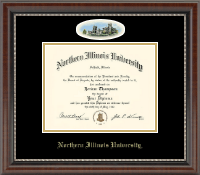 Northern Illinois University Diploma Frame - Campus Cameo Diploma Frame in Chateau