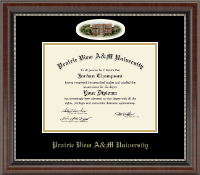 Prairie View A&M University Diploma Frame - Campus Cameo Diploma Frame in Chateau