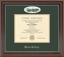 Siena College Diploma Frame - Campus Cameo Diploma Frame in Chateau