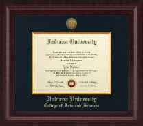 Indiana University - Purdue University Diploma Frame - Presidential Gold Engraved Diploma Frame in Premier