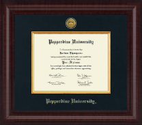Pepperdine University Diploma Frame - Presidential Gold Engraved Diploma Frame in Premier