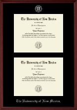 The University of New Mexico Diploma Frame - Double Diploma Frame in Camby