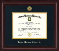 James Madison University Diploma Frame - Presidential Gold Engraved Diploma Frame in Premier