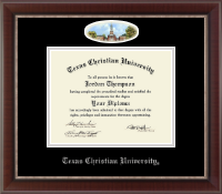 Texas Christian University Diploma Frame - Campus Cameo Diploma Frame in Chateau