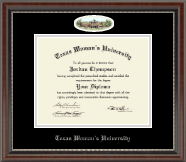 Texas Woman's University Diploma Frame - Campus Cameo Diploma Frame in Chateau