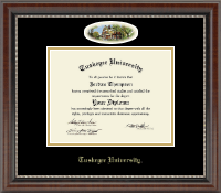 Tuskegee University Diploma Frame - Campus Cameo Diploma Frame in Chateau