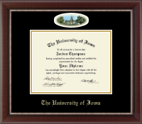 The University of Iowa Diploma Frame - Campus Cameo Diploma Frame in Chateau