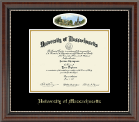 University of Massachusetts Amherst Diploma Frame - Campus Cameo Diploma Frame in Chateau