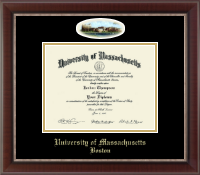 University of Massachusetts Boston Diploma Frame - Campus Cameo Diploma Frame in Chateau