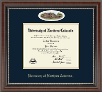 University of Northern Colorado Diploma Frame - Campus Cameo Diploma Frame in Chateau