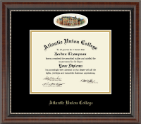 Atlantic Union College Diploma Frame - Campus Cameo Diploma Frame in Chateau