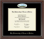 The University of Texas at Dallas Diploma Frame - Campus Cameo Diploma Frame in Chateau