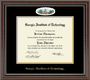 Georgia Institute of Technology Diploma Frame - Campus Cameo Diploma Frame in Chateau
