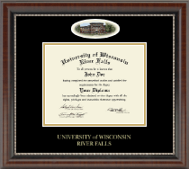 University of Wisconsin River Falls Diploma Frame - Campus Cameo Diploma Frame in Chateau
