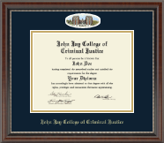 John Jay College of Criminal Justice Diploma Frame - Campus Cameo Diploma Frame in Chateau