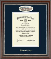 Midway College Diploma Frame - Campus Cameo Diploma Frame in Chateau