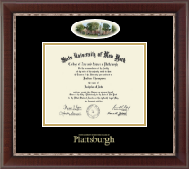 Plattsburgh State University Diploma Frame - Campus Cameo Diploma Frame in Chateau