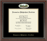 Rensselaer Polytechnic Institute Diploma Frame - Campus Cameo Diploma Frame in Chateau