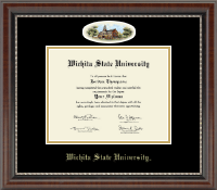 Wichita State University Diploma Frame - Campus Cameo Diploma Frame in Chateau