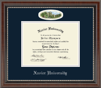 Xavier University Diploma Frame - Campus Cameo Diploma Frame in Chateau