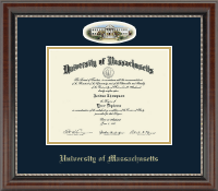 University of Massachusetts Lowell Diploma Frame - Campus Cameo Diploma Frame in Chateau