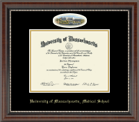 University of Massachusetts Medical School Diploma Frame - Campus Cameo Diploma Frame in Chateau