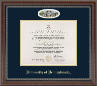 University of Pennsylvania Diploma Frame - Campus Cameo Diploma Frame in Chateau