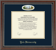 Yale University Diploma Frame - Campus Cameo Diploma Frame in Chateau