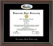 Kennesaw State University Diploma Frame - Silver Embossed Campus Cameo Diploma Frame in Chateau