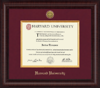 Harvard University Diploma Frame - Presidential Gold Engraved Diploma Frame in Premier